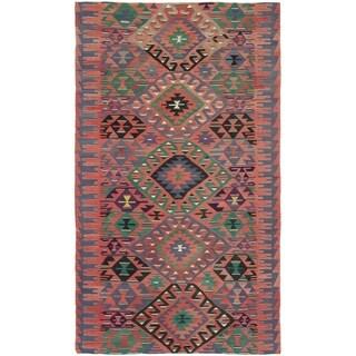 eCarpetGallery  Flat-weave Sivas Dark Copper Wool Kilim - 5'8 x 10'3