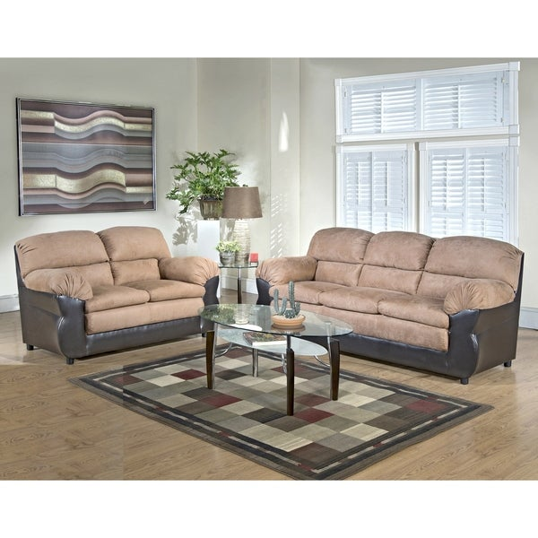 Wildrose Two Piece Sofa and Loveseat Set
