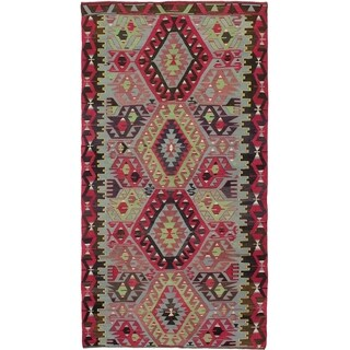 eCarpetGallery  Flat-weave Sivas Red Wool Kilim - 5'0 x 9'10
