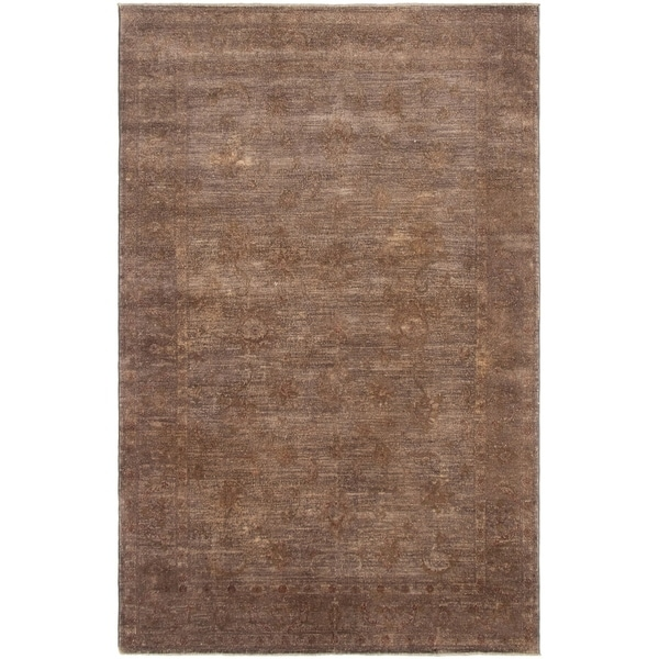eCarpetGallery Hand-knotted Color Transition Brown Wool Rug - 5'10 x 9'3
