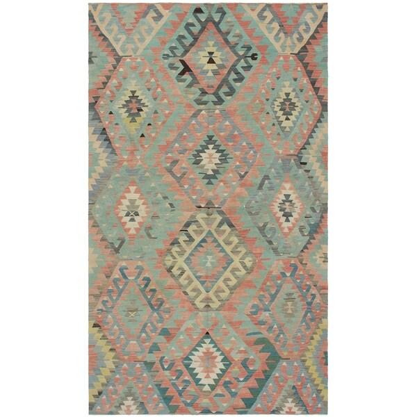 eCarpetGallery Flat-weave Sivas Dark Copper Wool Kilim - 5'9 x 10'4