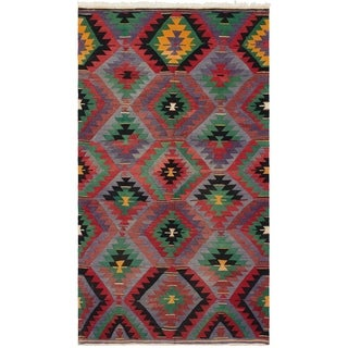 eCarpetGallery  Flat-weave Sivas Red Wool Kilim - 5'9 x 10'1