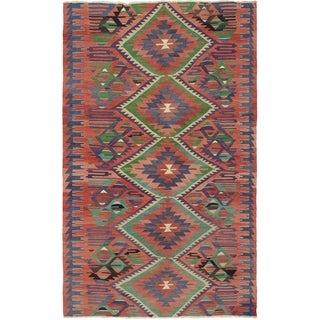 eCarpetGallery  Flat-weave Sivas Dark Copper Wool Kilim - 5'11 x 10'3