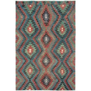 eCarpetGallery  Flat-weave Sivas Dark Copper Wool Kilim - 5'11 x 9'2
