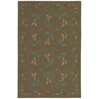 eCarpetGallery  Flat-weave Ankara FW Olive Wool Kilim - 5'10 x 9'1