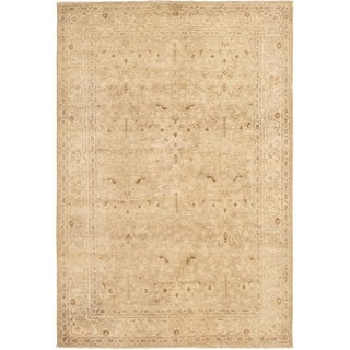 eCarpetGallery  Hand-knotted Color Transition Light Khaki Wool Rug - 6'1 x 8'11