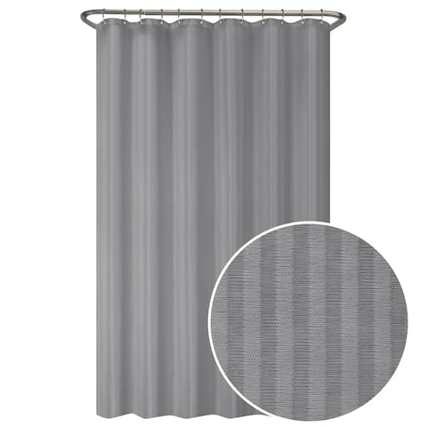 Maytex Ultimate Striped Waterproof Fabric Shower Curtain or Liner