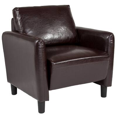 Belmont Modern Brown Leather Guest Chair
