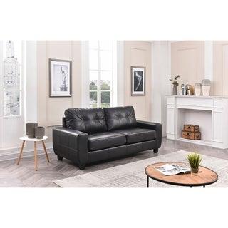 LYKE Home Black Button Tufted Sofa