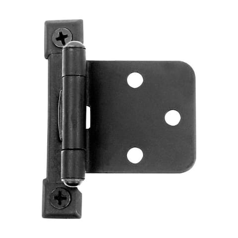Acorn 2-5/8 in. W x 2-5/8 in. L Black Iron Self-Closing Hinge 2 pk