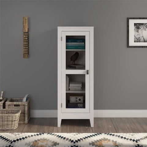 Avenue Greene Tamarisk Storage Cabinet with Mesh Door