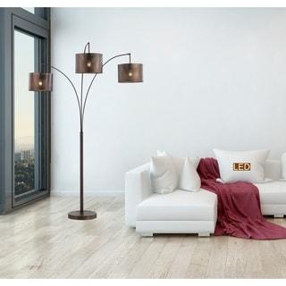 Shop Midtown 84 Quot H 3 Light Arch Floor Lamp Dark Bronze
