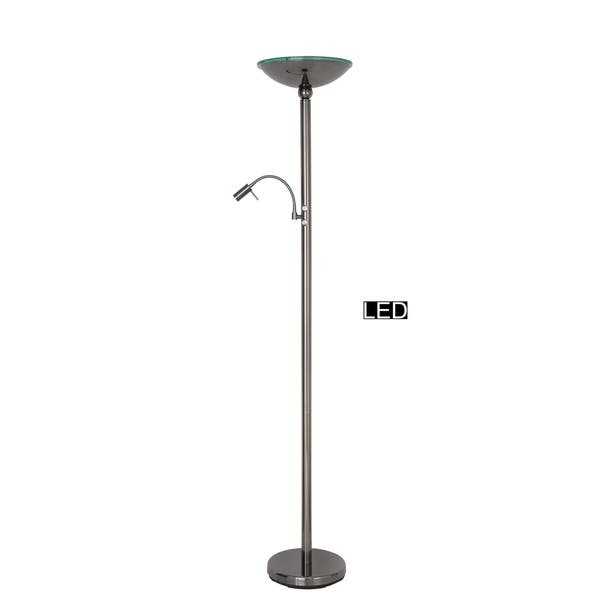 Shop Artiva Saturn Ii Led Torchiere Floor Lamp With Reading Light