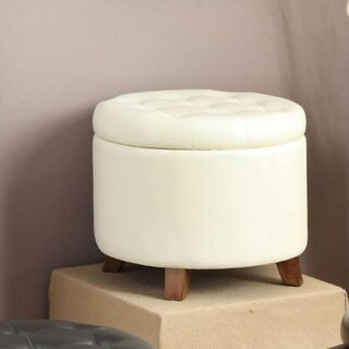 Fortune Faux Leather Ottoman with Storage