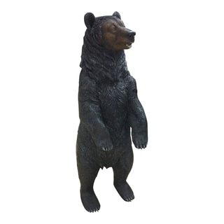 Aurelle Home Brown Bear Transitional Resin Statue