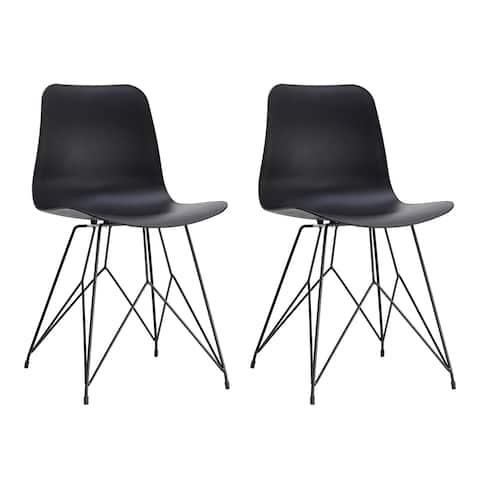 Aurelle Home Contemporary Put Door Chairs (Set of 2)