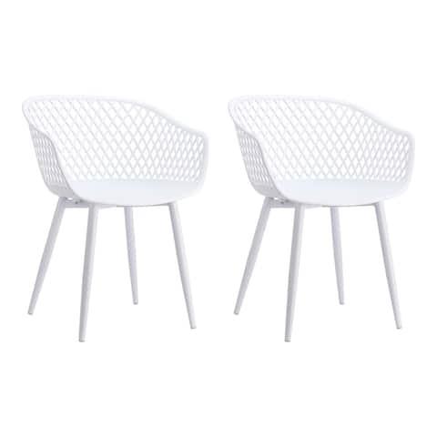 Aurelle Home Piola Waterproof Modern Outdoor Chairs (Set of 2) - 23 x 24 x 32