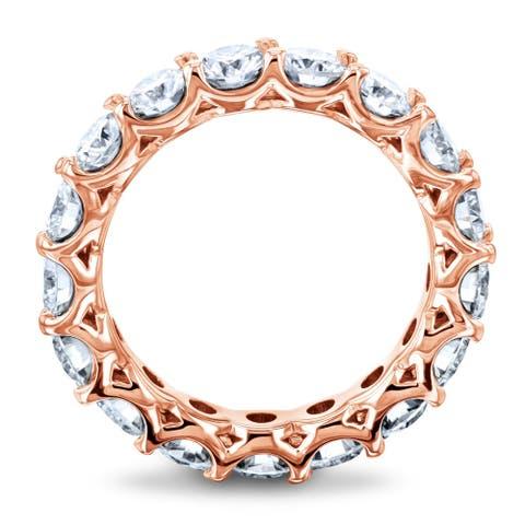 Annello by Kobelli 14k Gold 2-3/5ct.tw Round Moissanite Prong Set Eternity Ring Wedding Band