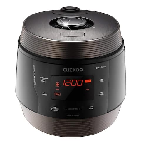 Cuckoo 8 in 1 Multi Pressure cooker Stainless Steel, Made in Korea, ICOOK Q5 SUPERIOR, Midnight, CMC-QSN501S