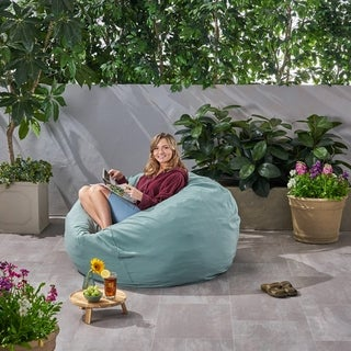 Rosalie Bay Outdoor 4.5' Bean Bag by Christopher Knight Home