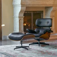 Latvia Mid-century Lounge Chair Set with Ottoman by Corvus
