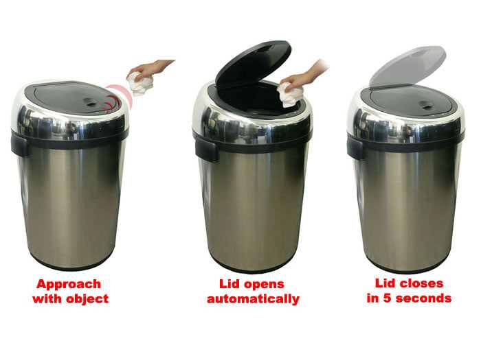 iTouchless 18-gallon Automatic Sensor Trash Can - Thumbnail 1