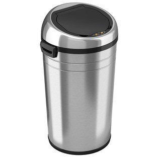 itouchless stainless steel 23gallon trash can