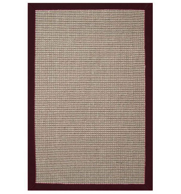 Shop Hand Woven Sisal Cherry Brown Border Rug 8 X 10