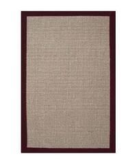 Hand-woven Sisal Cherry Brown Border Rug - 8' x 10'