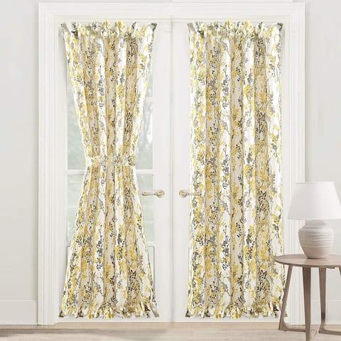 DriftAway Leah Rod Pocket Room Darkening Door Single Curtain Panel