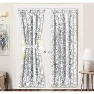 Porch & Den Pagosa Tree Branch Rod Pocket Room Darkening Door Curtain Panel