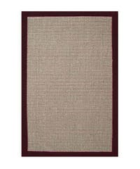 Hand-woven Sisal Cherry Brown Border Rug (5' x 8') - 5' x 8'