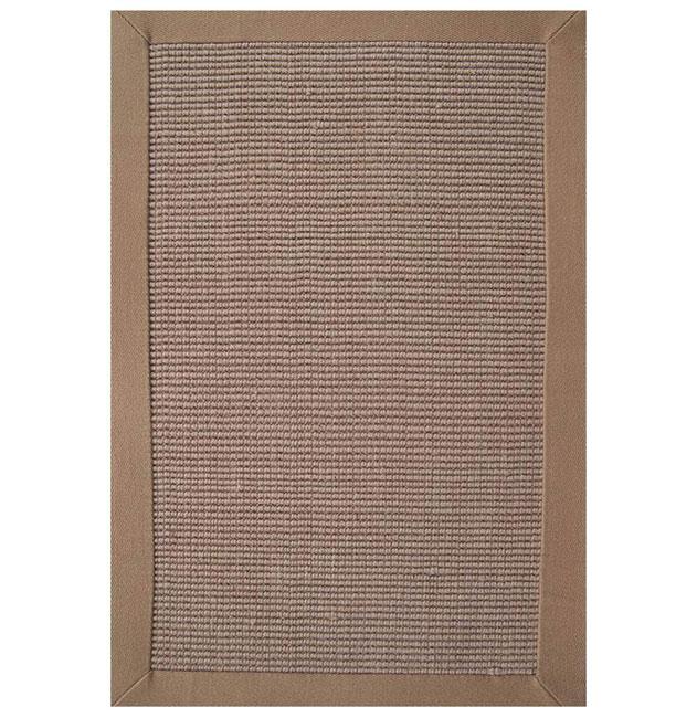 Hand-woven Sisal Khaki Border Rug (8' x 10') - 8' x 10'