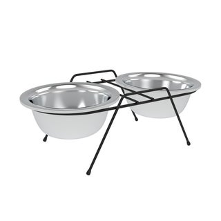 Link to Stainless Steel Elevated Pet Bowls with Nonslip Iron Stand 40 Oz By PETMAKER - 40 ounce Similar Items in Dog Feeders & Waterers