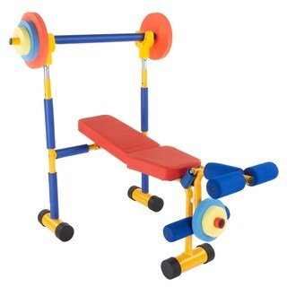 Toy Bench and Leg Press Childrens Play Workout Equipment by Hey! Play!