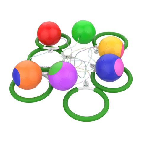 6 Piece Skip Ball Set Jump Game with Adjustable String by Hey! Play!