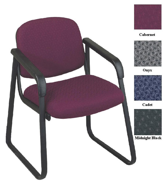 Genial Office Star Deluxe Sled Base Arm Chair