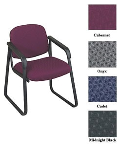 Office Star Deluxe Sled Base Arm Chair