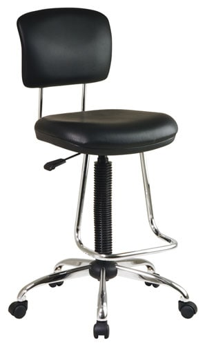 Office Star Chrome Finish Drafting Chair Free Shipping Today