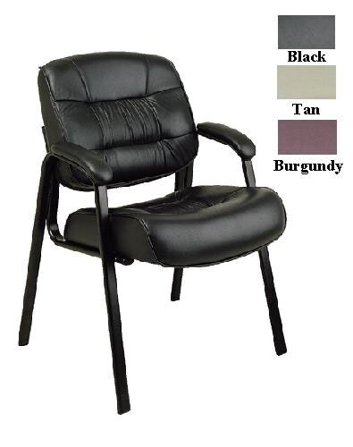 Office Star Leather Visitors Chair - Thumbnail 0