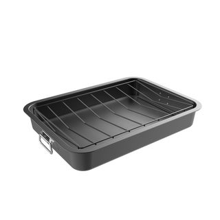 Roasting Pan with Angled Rack Nonstick Oven Roaster by Classic Cuisine