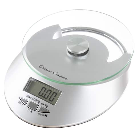 Kitchen Scale Digital up to 11lbs 5000g Capacity by Classic Cuisine