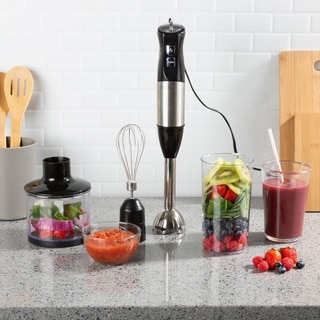 Immersion Blender 4 in 1 6 Speed Hand Mixer by Classic Cuisine