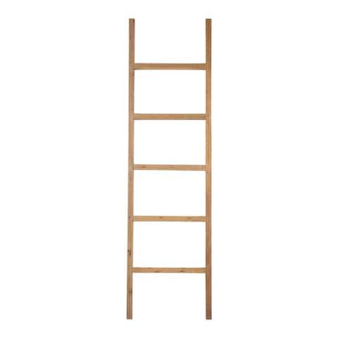 """East At Main's Darla Teak Decorative Ladder - 20""""x2.5""""x71"""""""