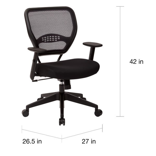 Office Star Professional Air Grid Deluxe Task Chair office star professional air grid managers chair - free shipping