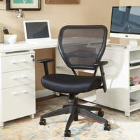 Office Star Professional Air Grid Black Nylon Mesh Managers Chair