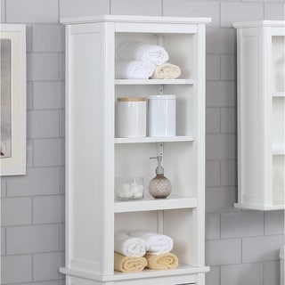 Link to Porch & Den Everest 17 x 36 Shelving Hutch Similar Items in Bathroom Furniture