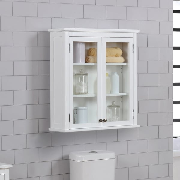 Shop Dorset 27w X 29h Wall Mounted Bath Storage Cabinet With Glass