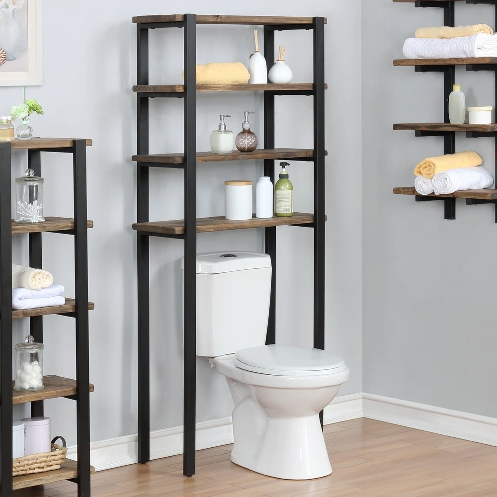 Carbon Loft Lawrence 65 Inch Over The Toilet 4 Shelf Bath Storage On Sale Overstock 26050435