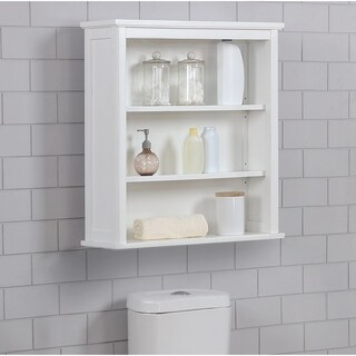 """Dorset 27""""W x 29""""H Wall Mounted Bath Storage Cabinet with Two Open Shelves"""